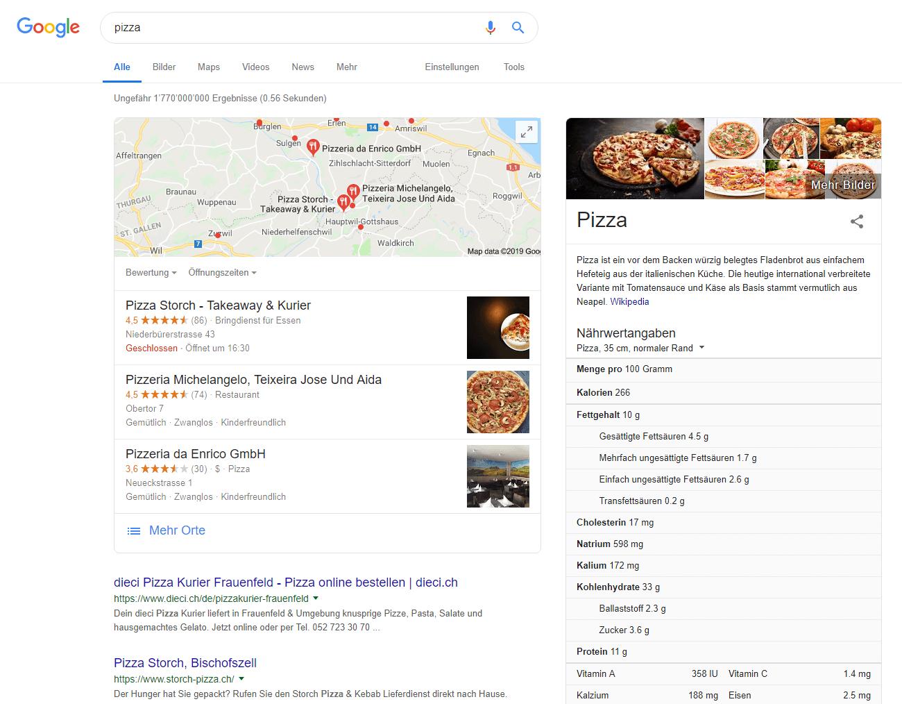 Geolocation Suche Google