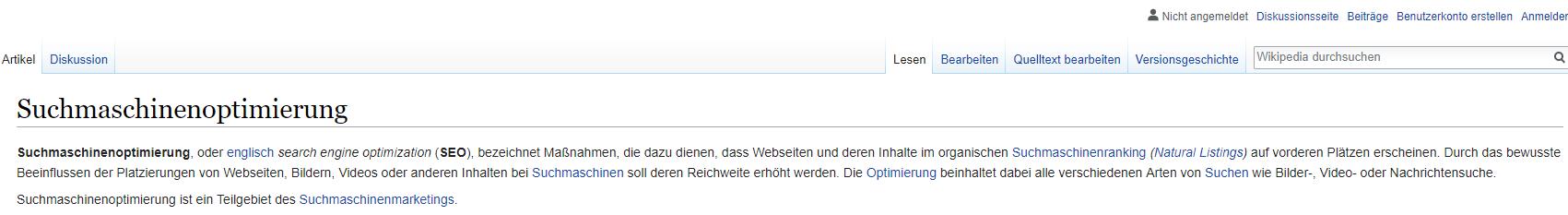 Wikipedia SEO