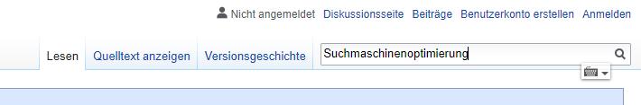Wikipedia Suche Suchmaschinenoptimierung