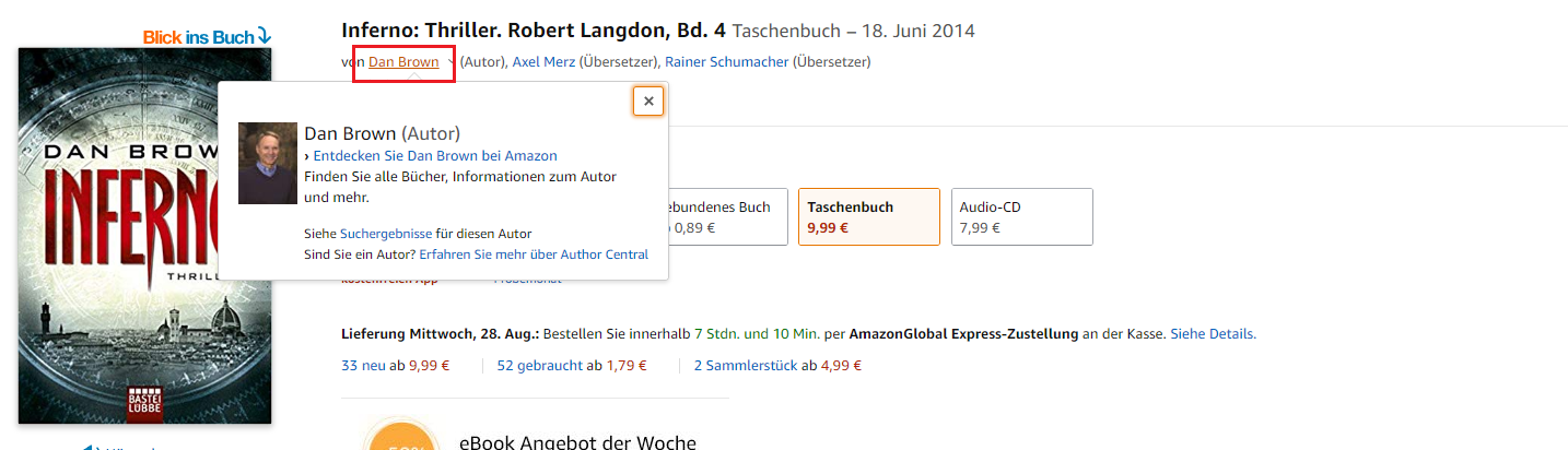 Interne Verlinkung Amazon