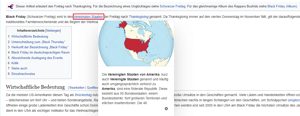 Interne Verlinkung Wikipedia