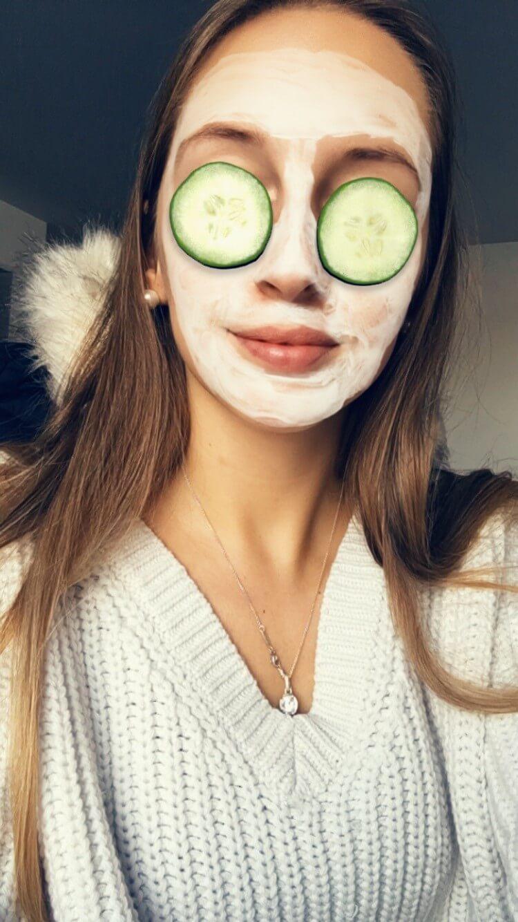 Snapchat AR Lens Gurkenmaske