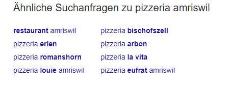 Aehnliche Suchanfragen Google