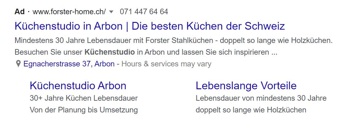 Kuechenstudio Anzeige