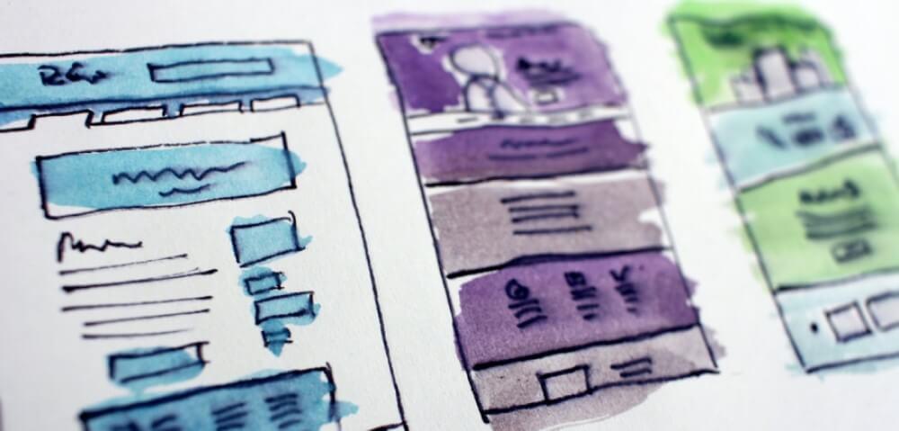 Webseitenaufbau schematisch