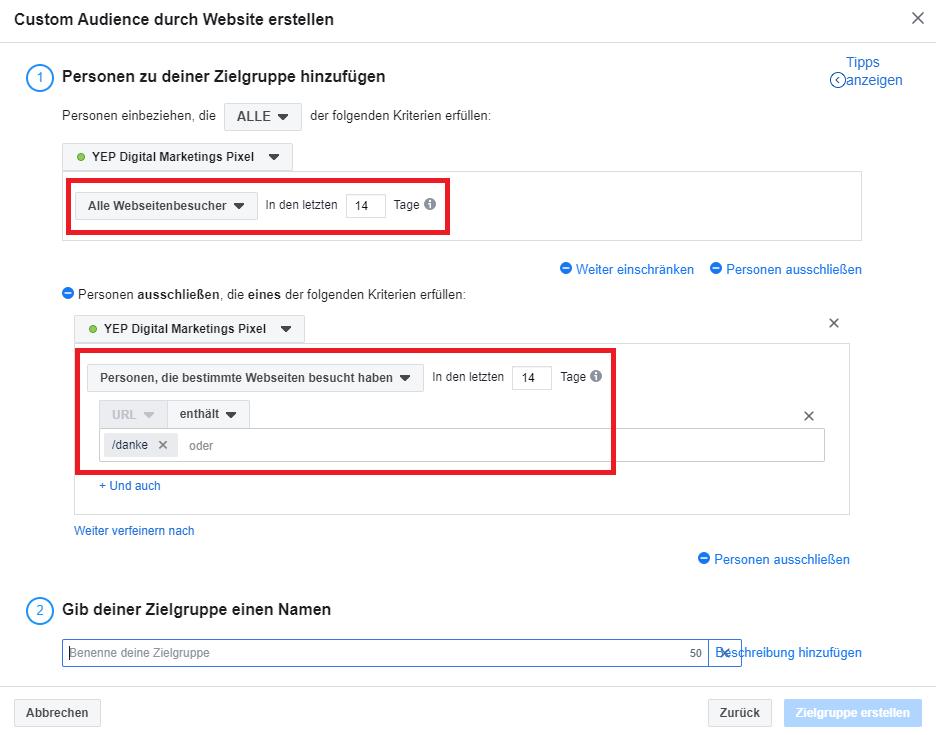 Custom Audience Websitebesucher