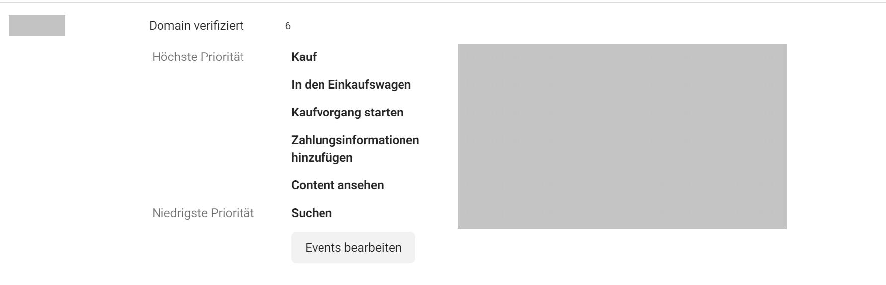 Pixel Events Priorisierung